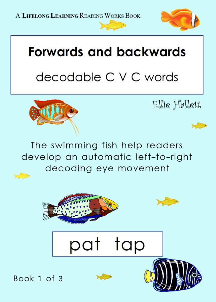 Forwards and backwards words. Book 1 - CVC words